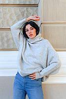 Удлинённый молодежный женский  свитер оверсайз с горлом Dilvin