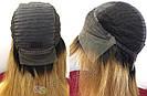 ✨🧡 Натуральный парик с чёлкой отросшими корнями, удлинённое каре 🧡✨, фото 10