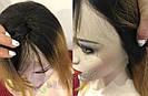 ✨🧡 Натуральный парик с чёлкой отросшими корнями, удлинённое каре 🧡✨, фото 6