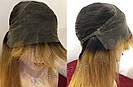 ✨🧡 Натуральный парик с чёлкой отросшими корнями, удлинённое каре 🧡✨, фото 9