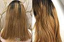 ✨🧡 Натуральный парик с чёлкой отросшими корнями, удлинённое каре 🧡✨, фото 8