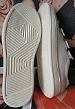 Mante white! Брендовые кожаные белые подростковые детские туфли на липучках кроссовки слипоны кеды, фото 5