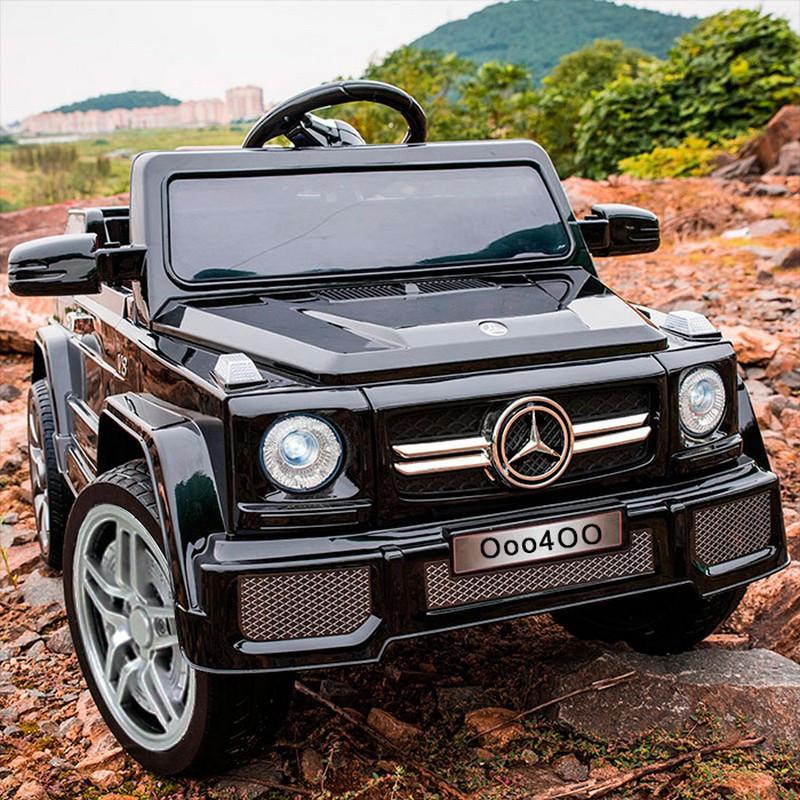 Детский электромобиль Джип M 2788 EBLRS-2, Mercedes G80, Кожа, EVA резина, Амортизаторы, черный лак