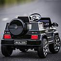 Детский электромобиль Джип M 2788 EBLRS-2, Mercedes G80, Кожа, EVA резина, Амортизаторы, черный лак, фото 2