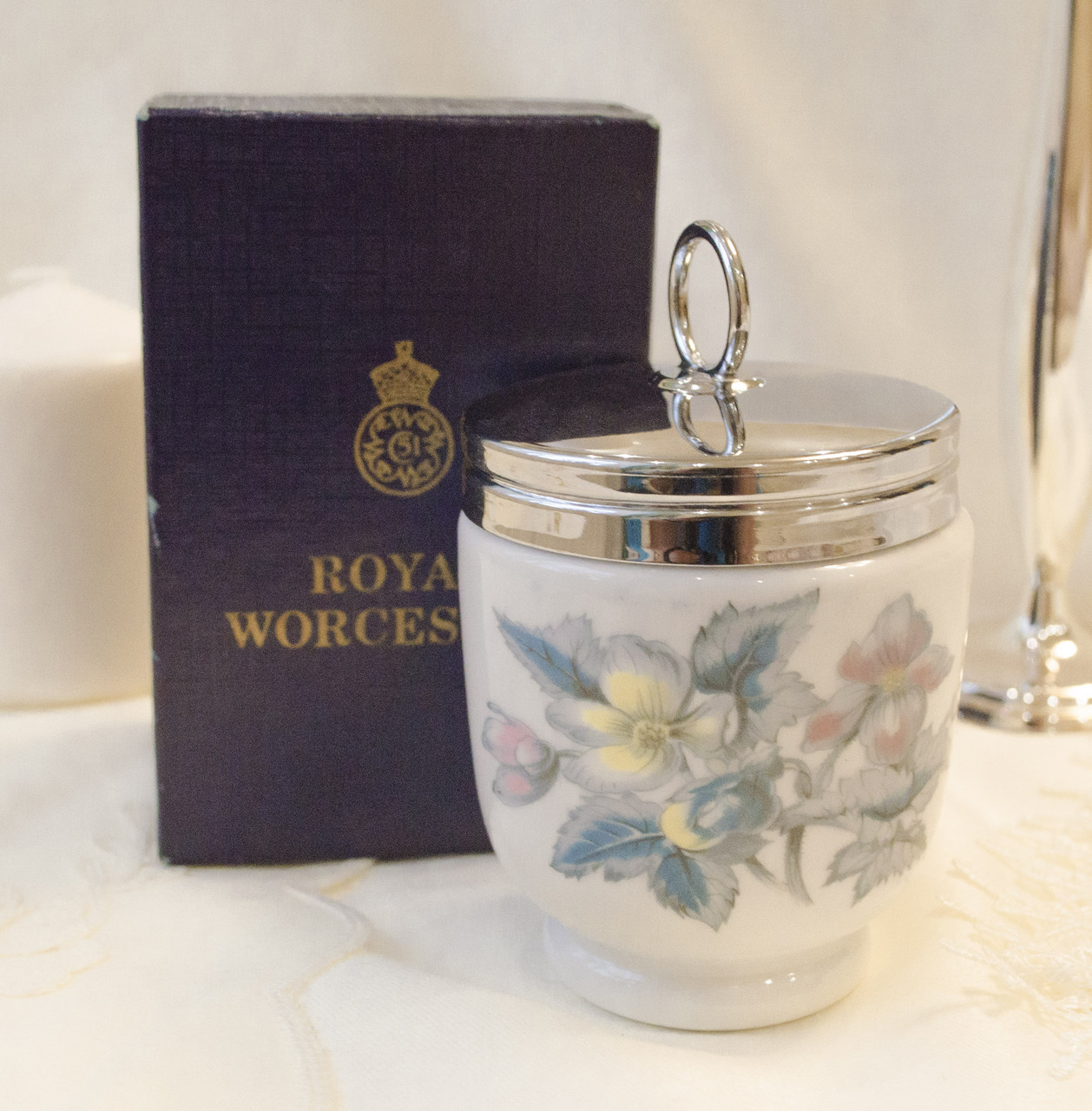 Фарфоровый кодлер на два яйца, King size, Royal Worcester, фарфор, Великобритания