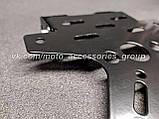 Рамка для номера мотоцикла (посилена сталева), регульований кут нахилу, фото 4