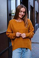 Теплый женский яркий oversize свитер Dilvin  в разных цветах