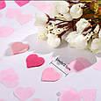Конфетти сердечки красные розовые белые ассорти маленькие 15 гр 2,5 см, фото 5