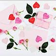 Конфетти сердечки красные розовые белые ассорти маленькие 15 гр 2,5 см, фото 4