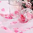 Конфетти сердечки красные розовые белые ассорти маленькие 15 гр 2,5 см, фото 3