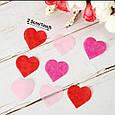 Конфетти сердечки красные розовые белые ассорти маленькие 15 гр 2,5 см, фото 2