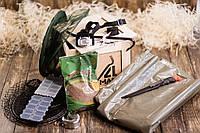 """Ящик 4MAN """"Рыбак"""". Ящик бокс. Оригинальный подарок рыболову. Подарочный набор для рыбака в ящике с ломом."""