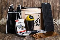 Ящик 4MAN Автокомфорт №1. Подарок мужчине. Оригинальный подарочный набор автолюбителю, шоферу, автомобилисту