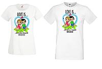 """Парные футболки для влюбленных Push IT с принтом """"Love is причина нашей свадьбы"""""""