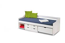 Кровать детская FLORO 2 белый 90 Halmar