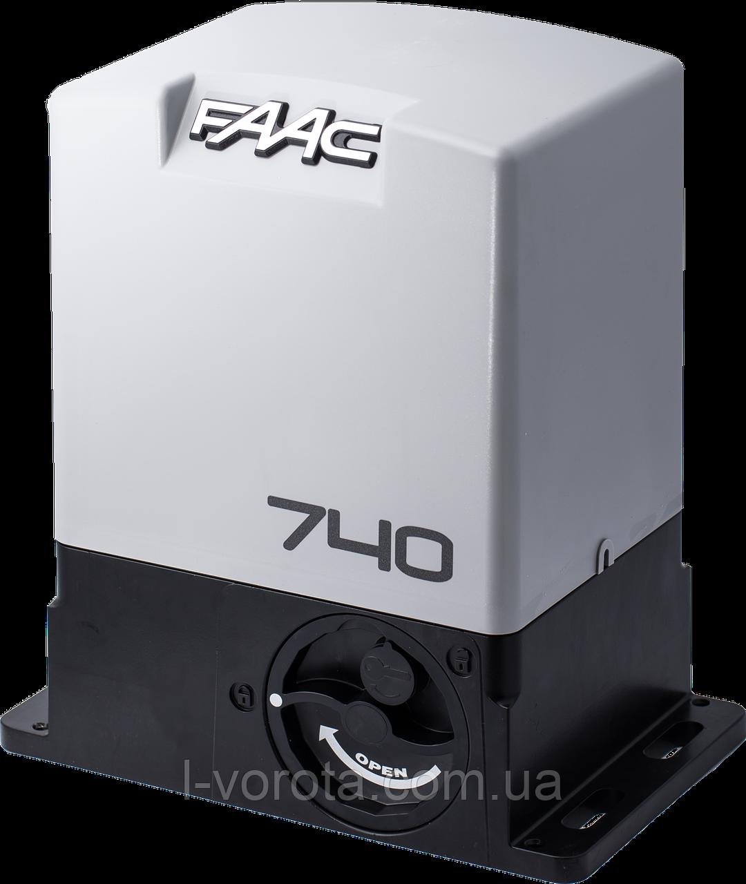 FAAC 740 привод для сдвижных (откатных) ворот (макс. вес ворот 500 кг)
