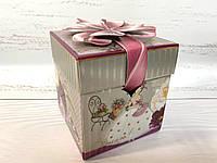 """Коробка для подарков """"пион"""" размер 10х10х10 см., фото 1"""