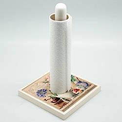 Подставка для бумажных полотенец 'Прованс. Розы' (керамика-дерево) (h-26х14,5х14,5 см) (263-0410Be)