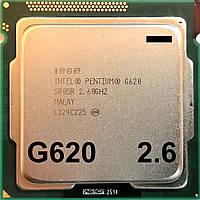 Процессор Intel Pentium G620 Q0 SR05R 2.6GHz 3M Cache 1066MHz FCLGA 1155 Б/У - МИНУС