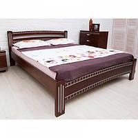 Кровать Олимп Милана Люкс с фрезеровкой массив бука