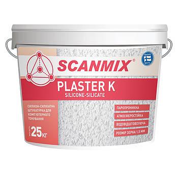 Фасадная декоративная акриловая штукатурка PLASTER K15 (барашек) 25 кг