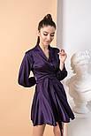 Женское шелковое платье на запах с поясом в расцветках, фото 3