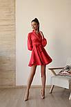 Женское шелковое платье на запах с поясом в расцветках, фото 9