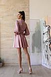 Женское шелковое платье на запах с поясом в расцветках, фото 7