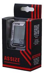 Велокомп'ютер ASSIZE AS700 багатофункціональний провідний