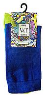 Повседневные носки детские Kids Socks V&T classic ШДКг 132--024-0405 Цветной след р.18-20 Синий/салатовый