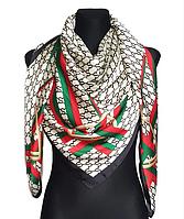 Шелковый платок Диана, 135*135 см, молочный