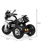 Детский мотоцикл Bambi с кожаным сиденьем M 4117EL-1 белый, фото 4