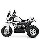 Детский мотоцикл Bambi с кожаным сиденьем M 4117EL-1 белый, фото 3