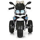 Детский мотоцикл Bambi с кожаным сиденьем M 4117EL-1 белый, фото 5