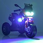 Детский мотоцикл Bambi с кожаным сиденьем M 4117EL-1 белый, фото 6