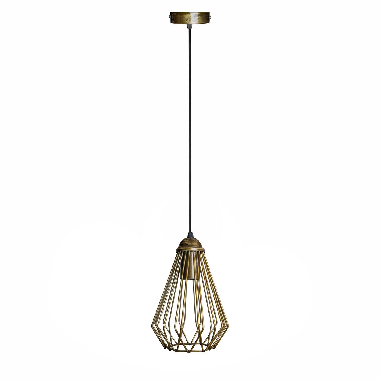 Світильник підвісний в стилі лофт NL 537 BN MSK Electric бронза