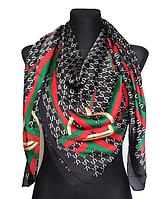 Шелковый платок Диана, 135*135 см, черный