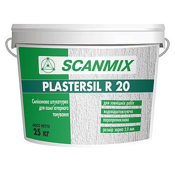 Силиконовая штукатурка PLASTERSIL R20 (короед) 25кг