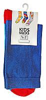 Повседневные носки детские Kids Socks V&T classic ШДКг 132--024-0405 Цветной след р.18-20 Синий/красный