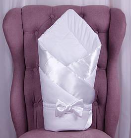 Демисезонный конверт одеяло Beauty белый
