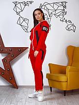 """Женский трикотажный спортивный костюм """"BST"""" с капюшоном (большие размеры), фото 2"""