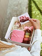 Подарочный набор Роскошь. Чашка, крем, макарун. Подарок девушке на 14 февраля.