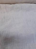 """Льняная плотная костюмная ткань с """"эффектом помятости"""" сливочного цвета, фото 1"""