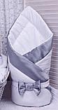 Демисезонный конверт одеяло Beauty белый с серым, фото 3
