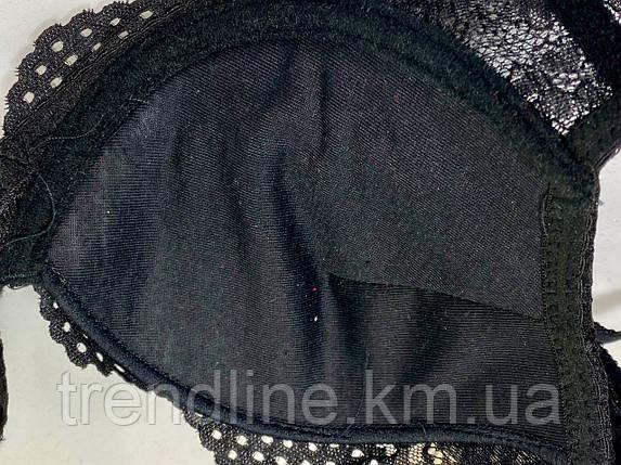 Бюстгальтер В Weiyesi № 1027 Пуш-ап гель Чёрный, фото 2