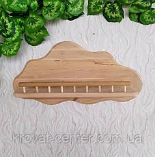 Навесная детская полочка из натурального дерева от производителя (цвет на выбор), фото 3
