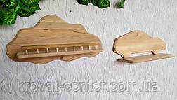 Навесная детская полочка из натурального дерева от производителя (цвет на выбор), фото 2