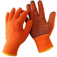 Рукавички робочі помаранчеві ХБ чорна точка Werk WE2105Н (79785)