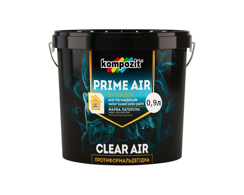 Фарба противоформальдегидная KOMPOZIT PRIME AIR інтер'єрна біла (база А) 0,9 л