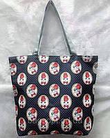 Эко сумка пляжная коттоновая с принтом Кота